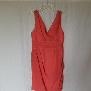 Anthropologie Yoana Baraschi coral dress size 8.